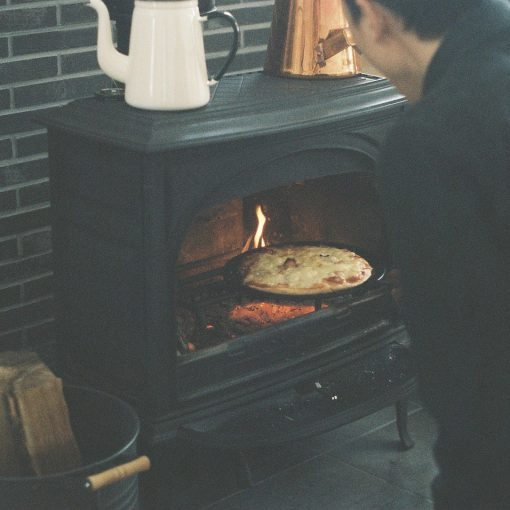 薪ストーブ料理
