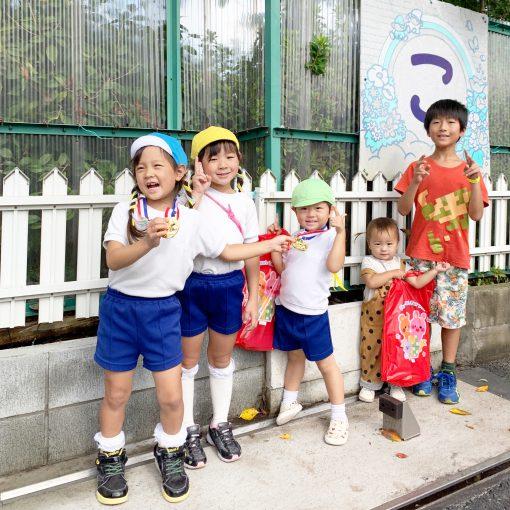 胃腸炎と年子トリオ運動会