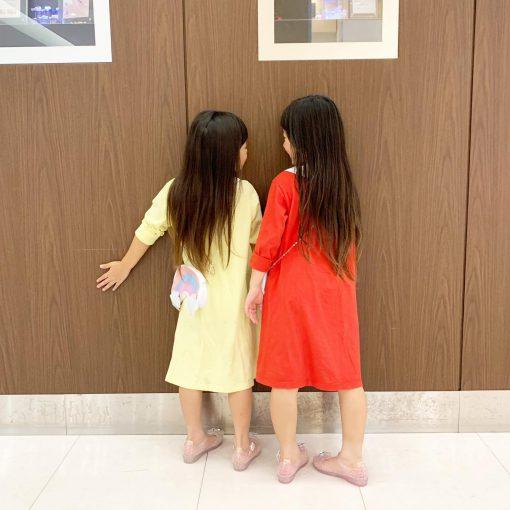 年子姉妹のヘアカット