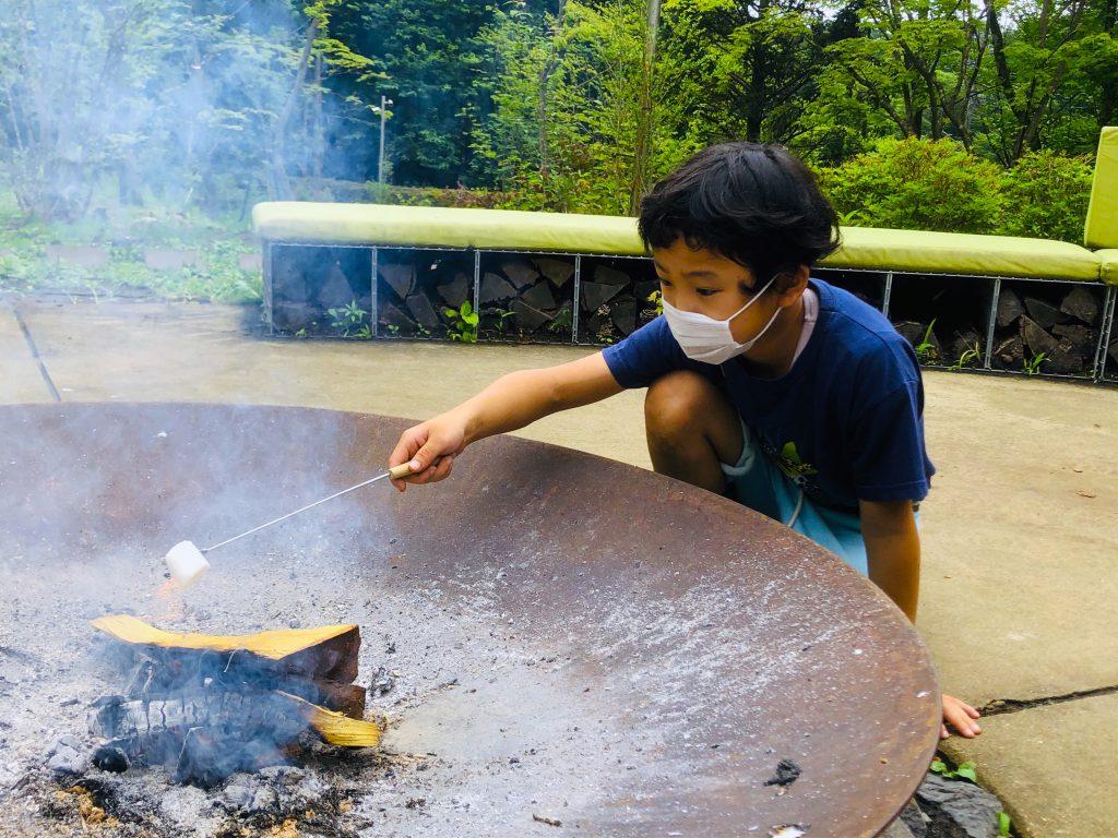 リゾナーレ那須 星野リゾート 那須 ホテル 家族旅行 マシュマロ 焚き火